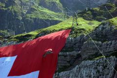 Säntis, Schweizer Fahne